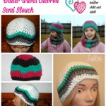 Winter Waves Chevron Semi Slouch by Cre8tion Crochet