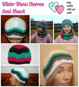 Winter Waves Chevron Semi Slouch ~ Cre8tion Crochet
