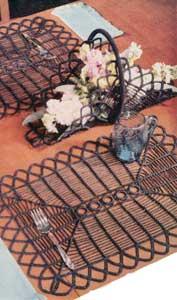 Black Magic Luncheon Set by Free Vintage Crochet