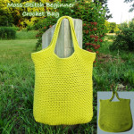 Moss Stitch Beginner Crochet Bag ~ Rhelena - CrochetN'Crafts