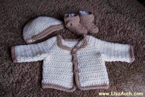 Newborn Baby Cardigan by Free Crochet Patterns and Designs by Lisa Auch
