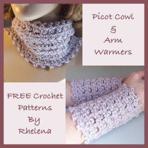 Picot Cowl and Arm Warmers by CrochetN'Crafts