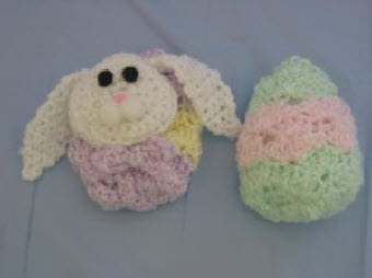 Inside-Out Easter Egg Into a Bunny ~ Donna's Crochet Designs