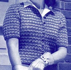 Americana Cardigan by Free Vintage Crochet