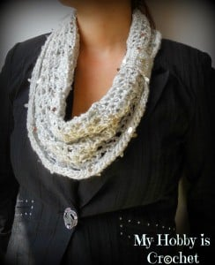 Swanky Glam Cowl by My Hobby is Crochet