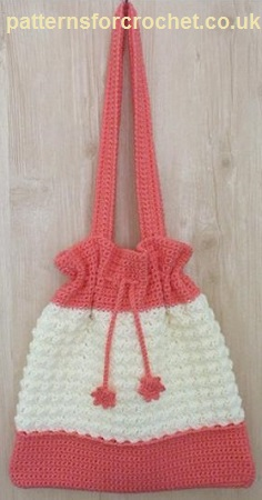Drawstring Bag by Patterns For Crochet