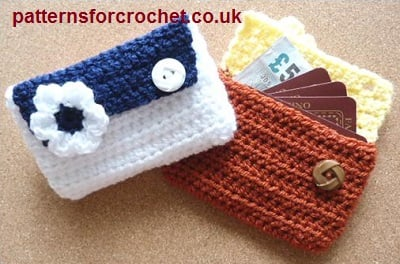 Card Pouch by Patterns For Crochet