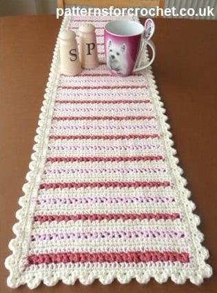 Dining table runner patterns for crochet crochet for 10 minute table runner placemats
