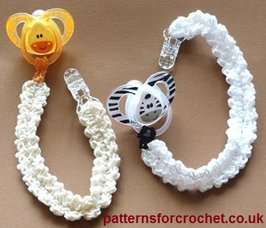 Pacifer/Binky Clip by Patterns For Crochet