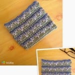 Layered Spike Stitch Square by Manda Proell of MandaLynn's Crochet Treasures
