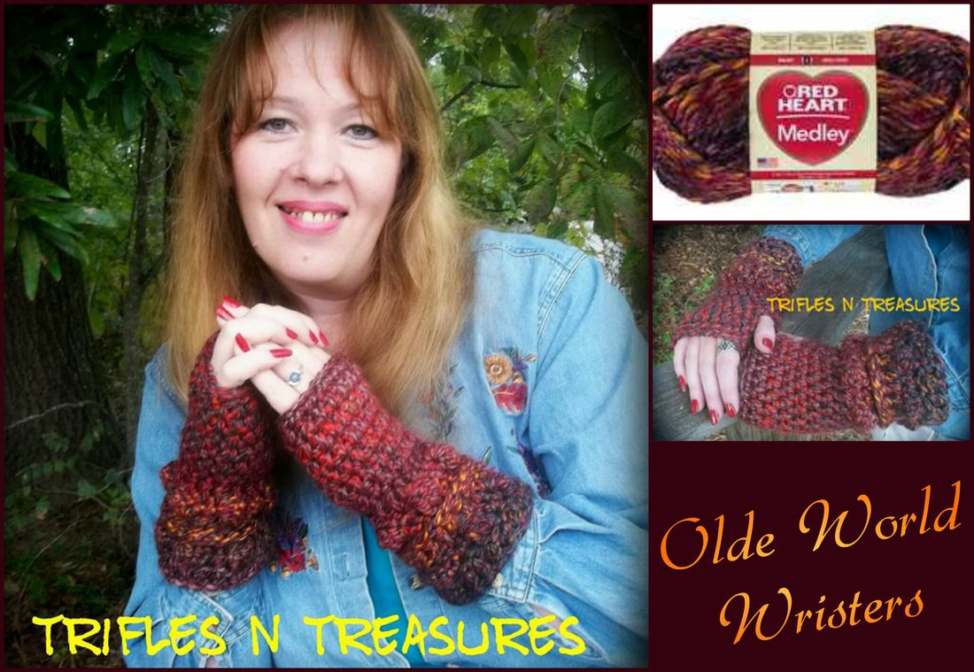 Olde World Wristers by Tera Kulling of Trifles N Treasures