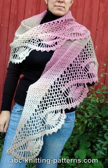 Dawn in the Woods Shawl by ABC Knitting Patterns