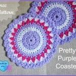 Pretty Purple Coaster by Erangi Udeshika of Crochet For You
