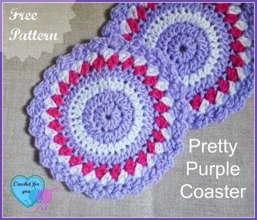 Pretty Purple Coaster by Erangi Udeshika of Crochet For You - Crochet ...