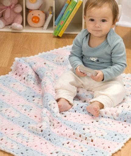 Grandma's Favorite Baby Blanket by Michele Maks for Red Heart