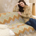 Wavy Ripple Throw ~ Nanette M. Seale - Red Heart