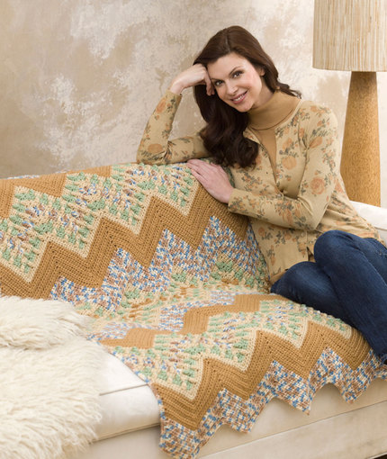 Wavy Ripple Throw by Nanette M. Seale for Red Heart