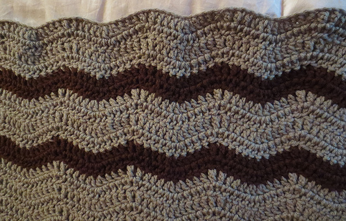 Wavy Ripple Lapghan by My Recycled Bags
