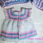 Sugar Candy Stripes ~ Crochet Newborn Baby Dress by Erangi Udeshika of Crochet For You