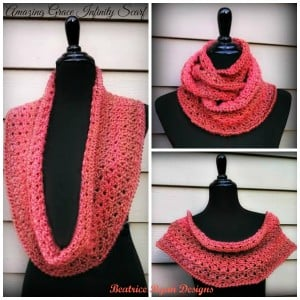 Amazing Grace Infinity Scarf by Beatrice Ryan Designs
