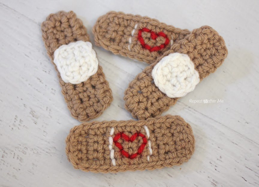 Crochet Band-Aid by Repeat Crafter Me