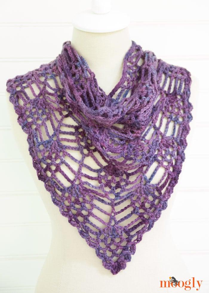 Crochet Stitches Moogly : Berry Harvest Bandana Cowl ~ Moogly - Crochet Pattern Bonanza