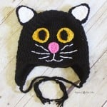 Crochet Black Cat Hat by Repeat Crafter Me