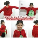 Butterfly Stitch Circular Jacket by Meladora's Creations