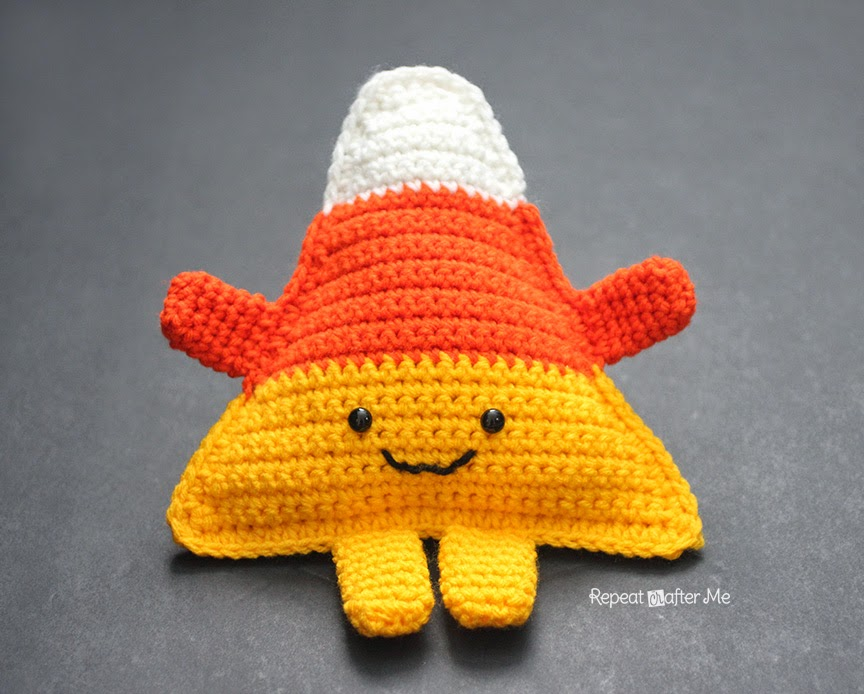 Cuddly Crochet Candy Corn by Repeat Crafter Me