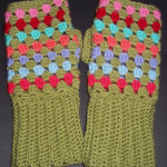 Granny Stripe Wrist Warmers ~ Lucy In The Sky