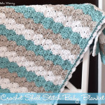 Shell Stitch Baby Blanket ~ The Stitchin' Mommy