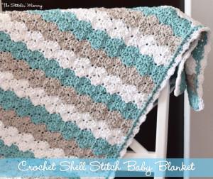 Shell Stitch Baby Blanket ~ The Stitchin' Mommy