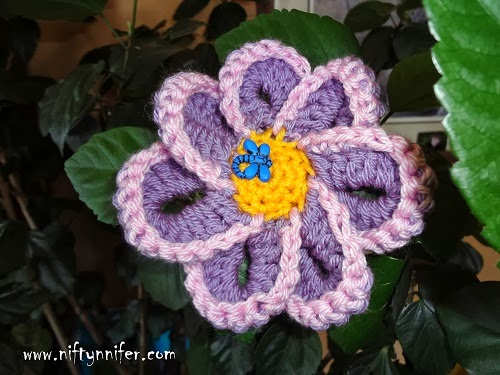 Funky Flower Fridays Week #9 by Jennifer Gregory of Niftynnifer's Crochet & Crafts