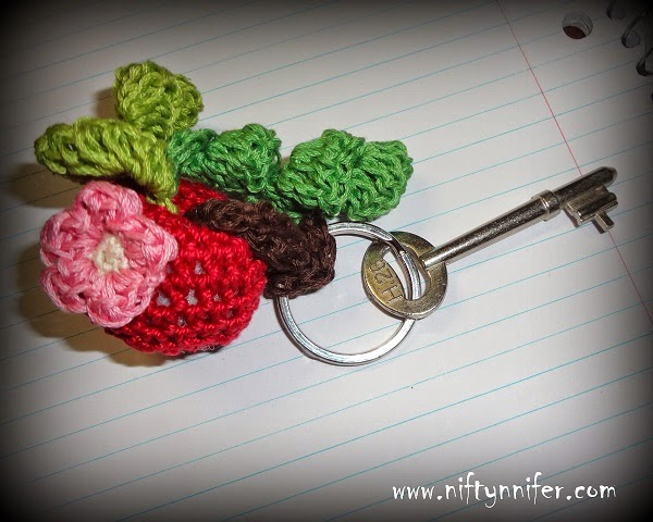 Crab Apple Dangle by Jennifer Gregory of Niftynnifer's Crochet & Crafts