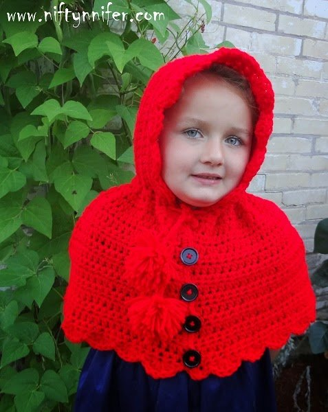 Lost in the Woods Hooded Cape by Jennifer Gregory of Niftynnifer's Crochet & Crafts