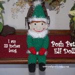 Christmas Elf Doll by Sara Sach of Posh Pooch Designs