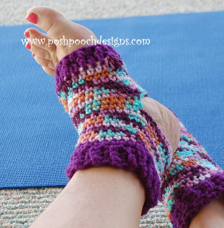 Crochet Yoga Socks : Easy Yoga Socks ~ Sara Sach - Posh Pooch Designs - Crochet Pattern ...