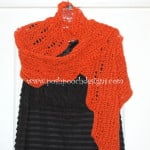 Lace Pumpkin Wrap Shawl by Sara Sach of Posh Pooch Designs