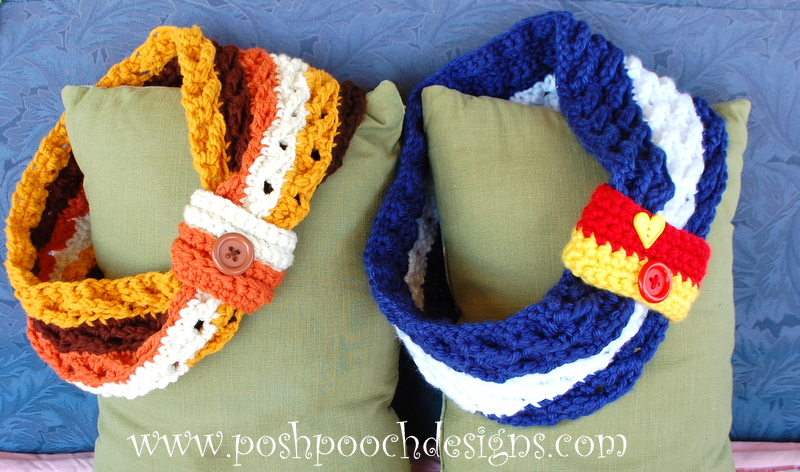 Cross Over Striped Cowl by Sara Sach of Posh Pooch Designs