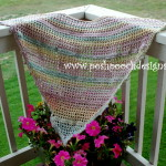 Everyday shawl For Worsted Weight Yarn ~ Sara Sach - Posh Pooch Designs