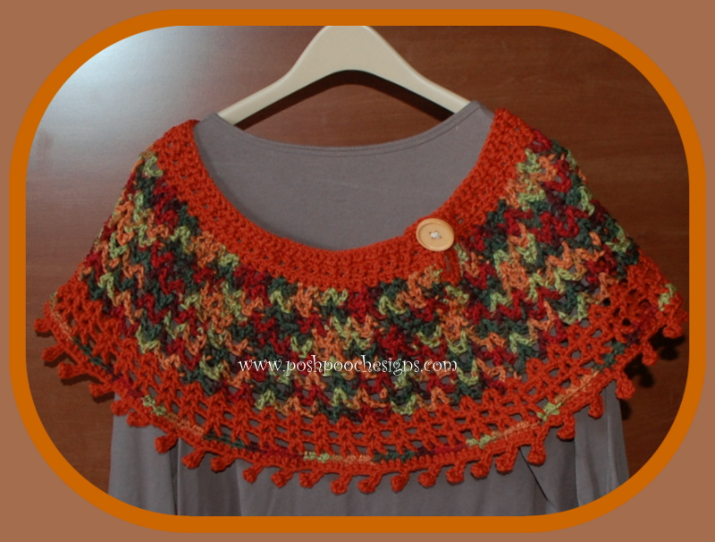 Fall Colors Ponchette - Poncho ~ Sara Sach - Posh Pooch Designs