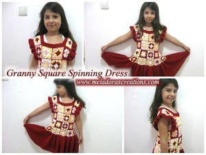Granny Square Spinning Dress by Meladora's Creations