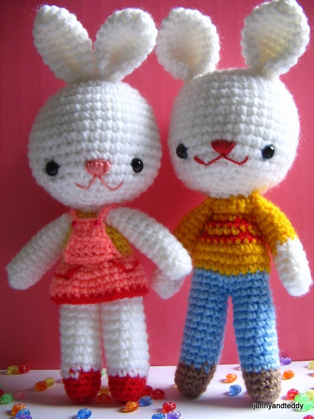 Charlie & Angel Bunny by Jenny and Teddy