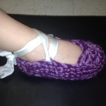 1-2 Year Old Ballet Slipper ~ Manda Proell - MandaLynn's Crochet Treasures