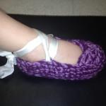 1-2 Year Old Ballet Slipper by Manda Proell of MandaLynn's Crochet Treasures