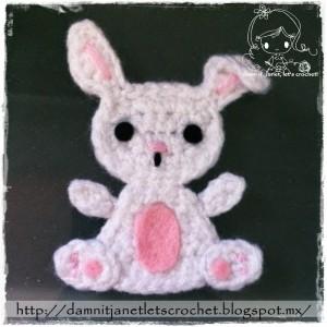 Bunny Applique by Damn it Janet, Let's Crochet!