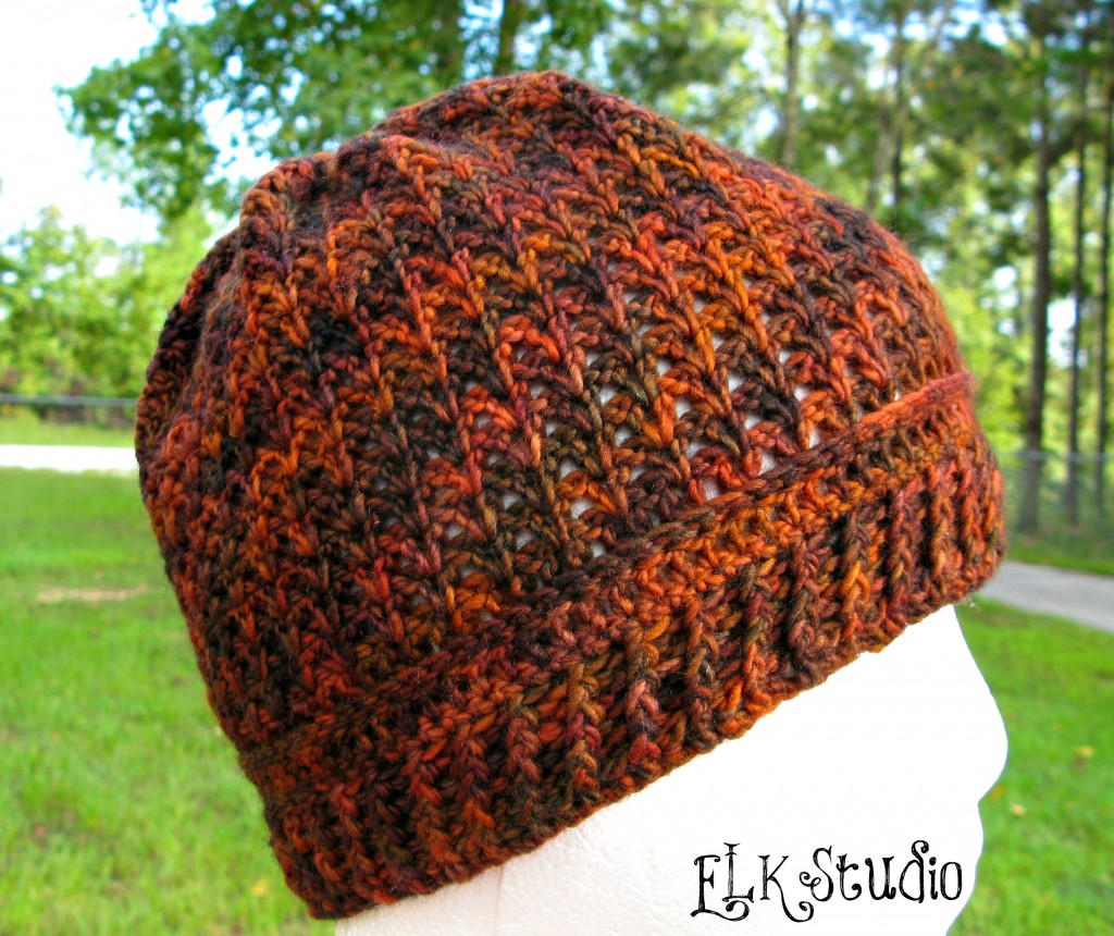 """Pumpkin Spice"" Beanie by Kathy Lashley by ELK Studio"