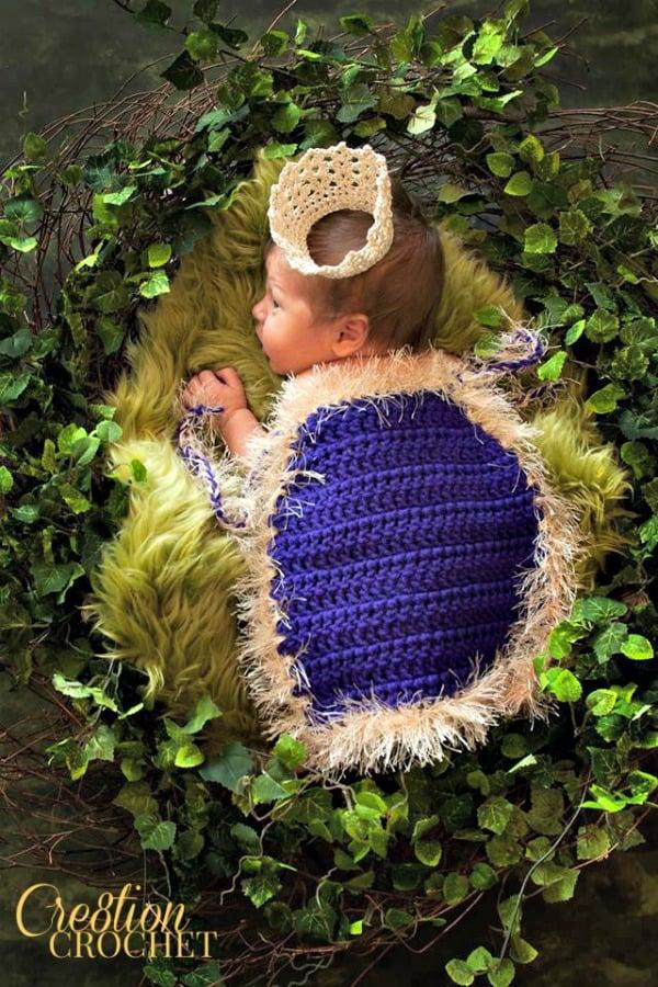 Kings Cape Infant Photo Prop by Cre8tion Crochet