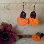 Pumpkin Earrings by Crochet is the Way