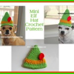 Mini Elf Hat by Sara Sach by Posh Pooch Designs